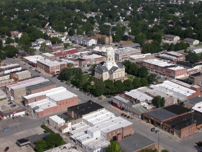 Mid-distance aerial Downtown